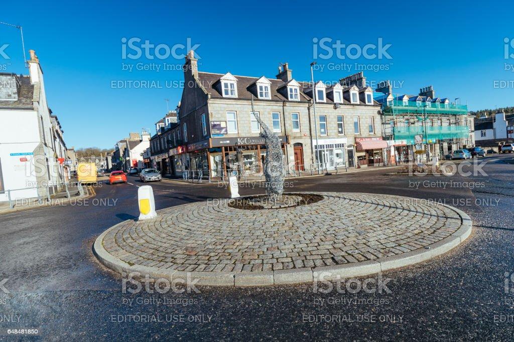 Ellon town, Aberdeenshire, Scotland stock photo