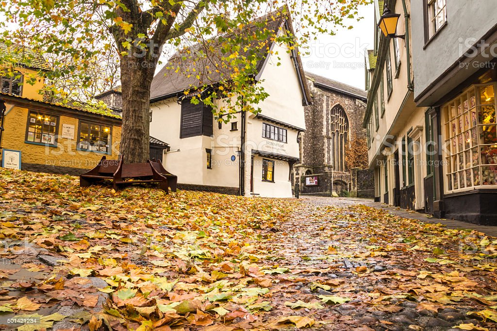 Elm Hill, England stock photo