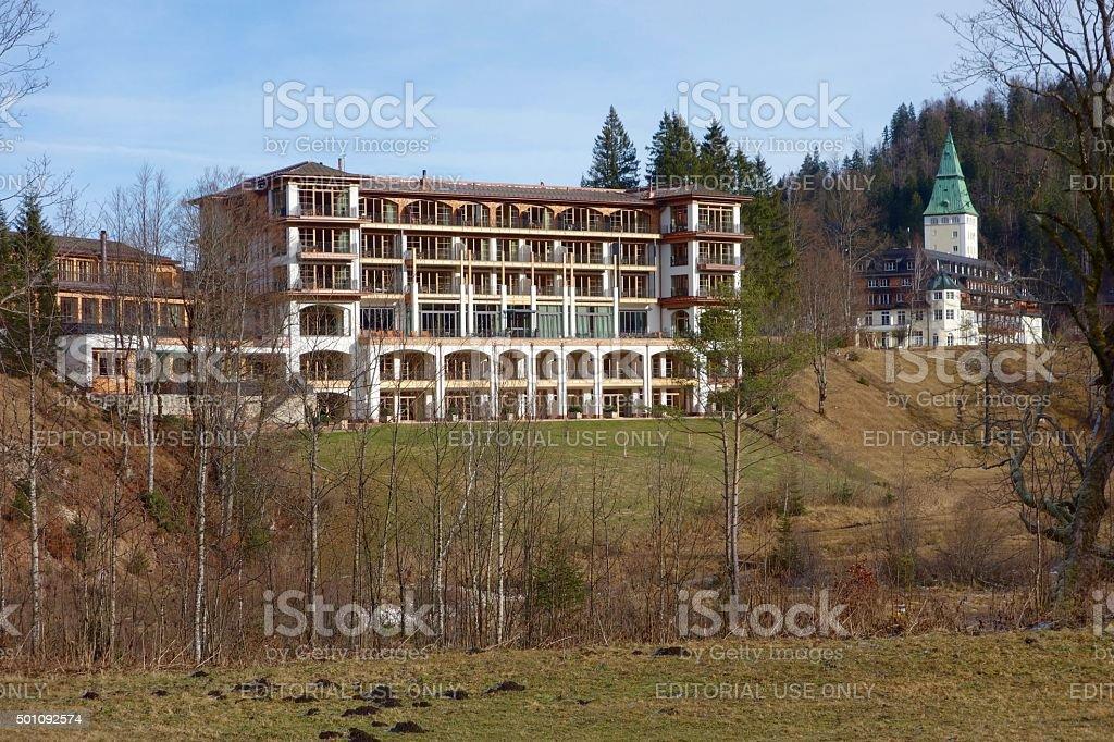 Elmau Schlosshotel in Bavaria Germany stock photo