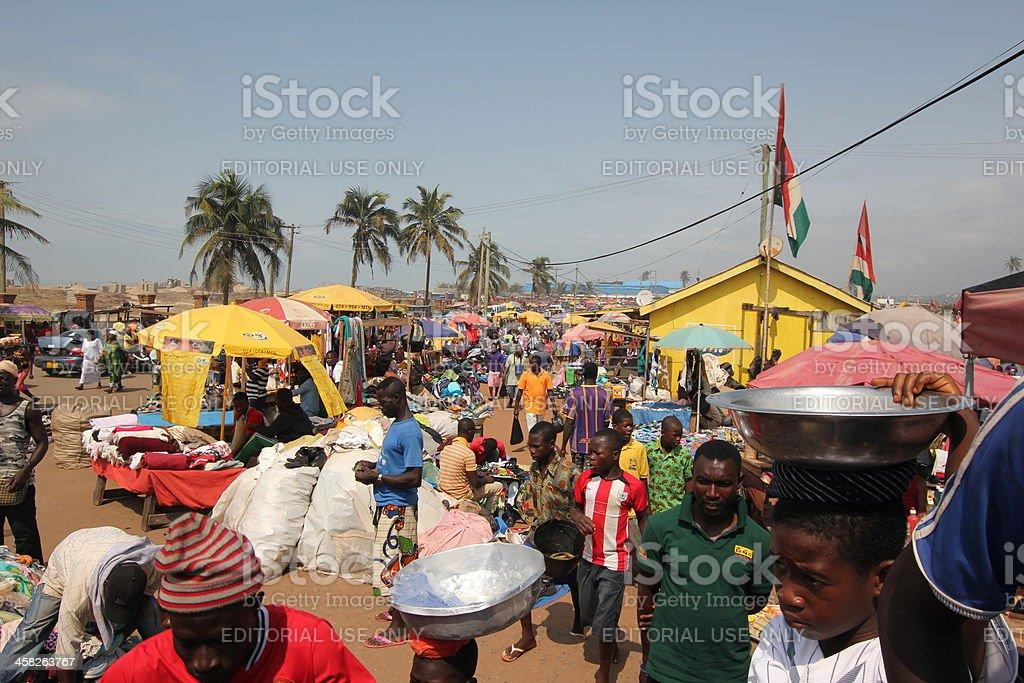 Elmina Market in Ghana, West Africa royalty-free stock photo