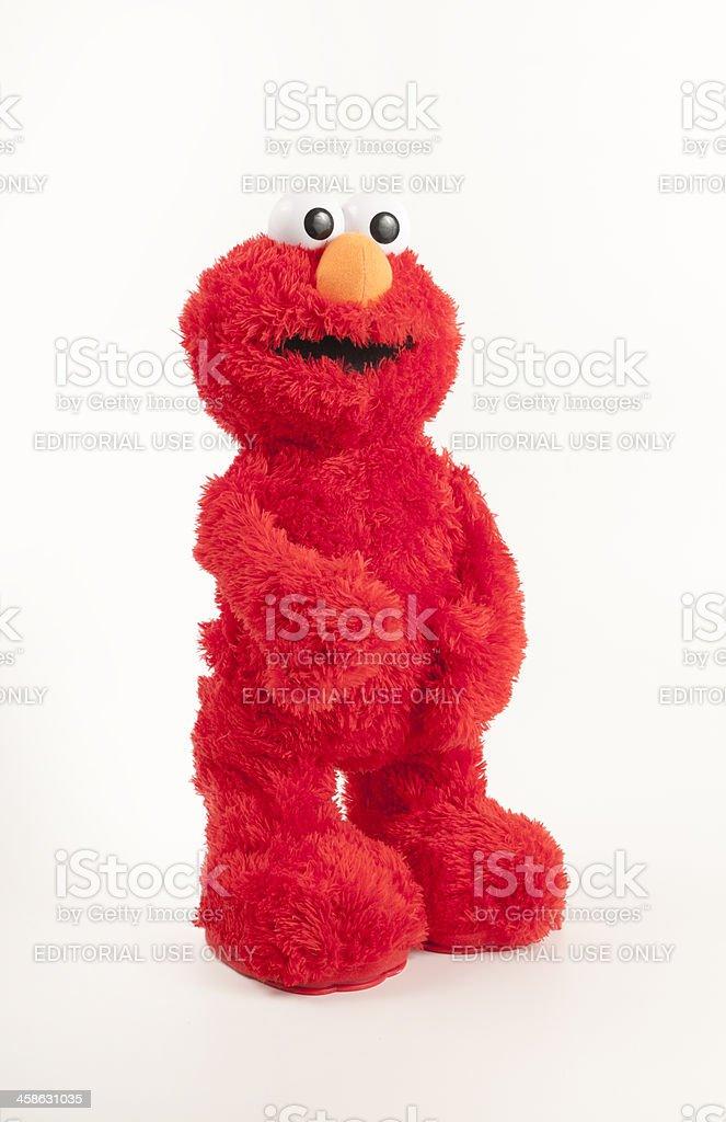 Elmo Plush Toy Standing stock photo