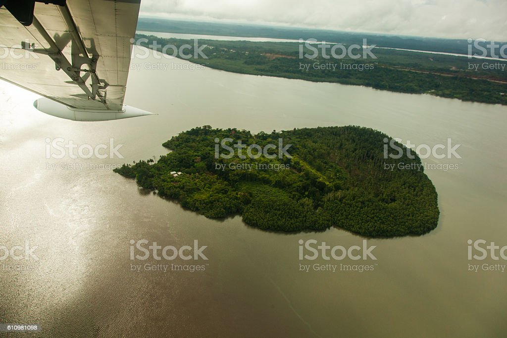 Elobey I Island stock photo