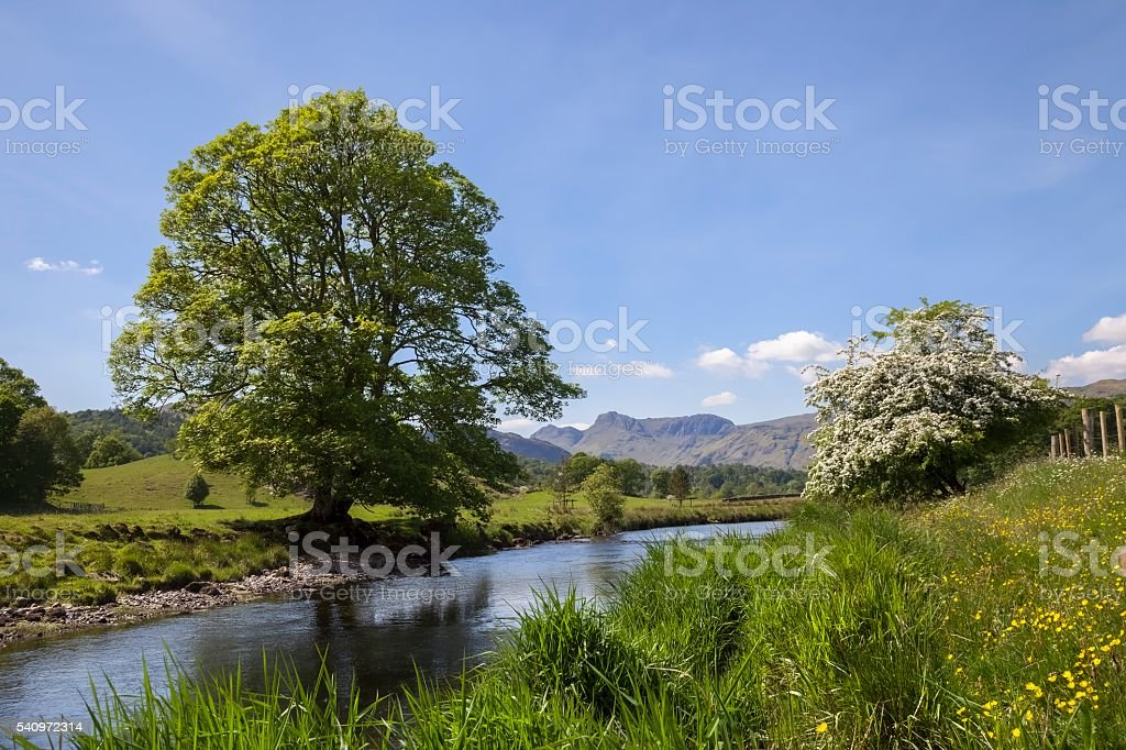 Elterwater, The Lake District, Cumbria, England stock photo