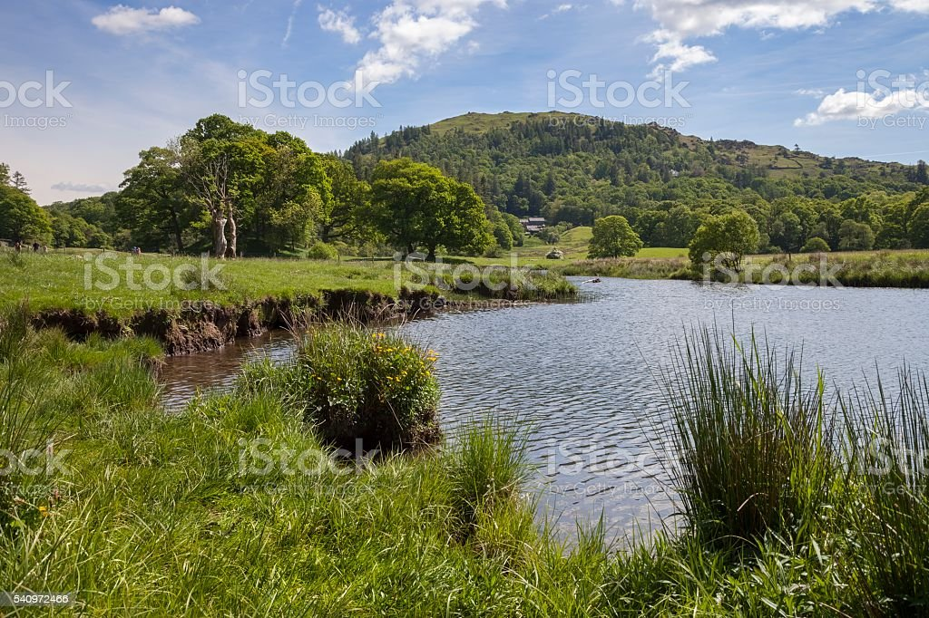 Elterwater, The Lake District, Cumbria, England stock photo