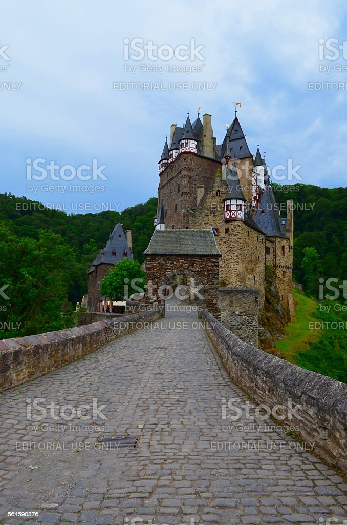 Eltz Castle: Medieval Architecture, Mountains and Forests stock photo