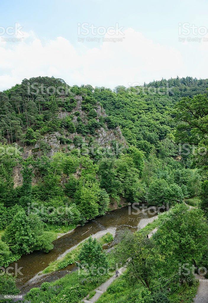 Eltz river on the Eifel region stock photo
