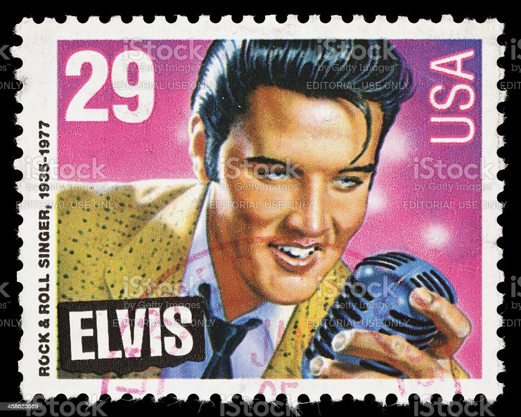 USA Elvis Presley postage stamp royalty-free stock photo
