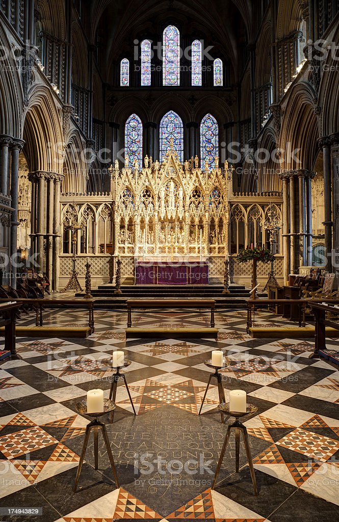 Ely Cathedral Altar Interior royalty-free stock photo