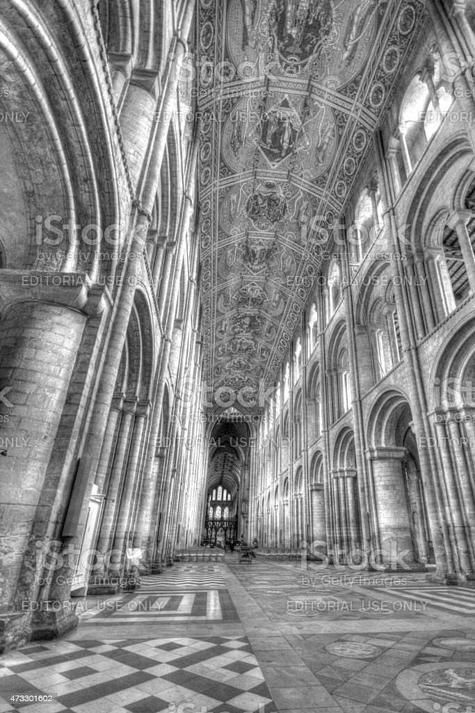 Ely Cathedral ceiling stock photo
