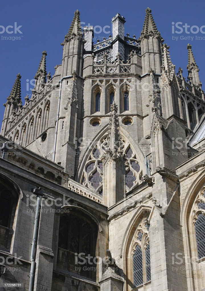Ely Cathedral detail royalty-free stock photo