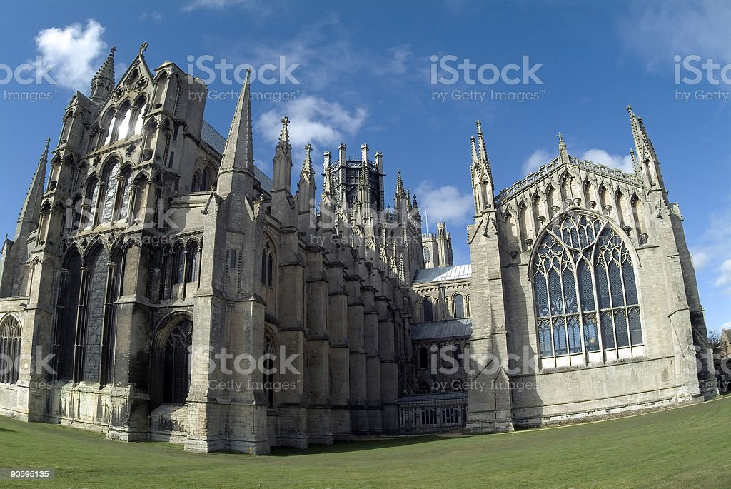 Ely Cathedral from east royalty-free stock photo