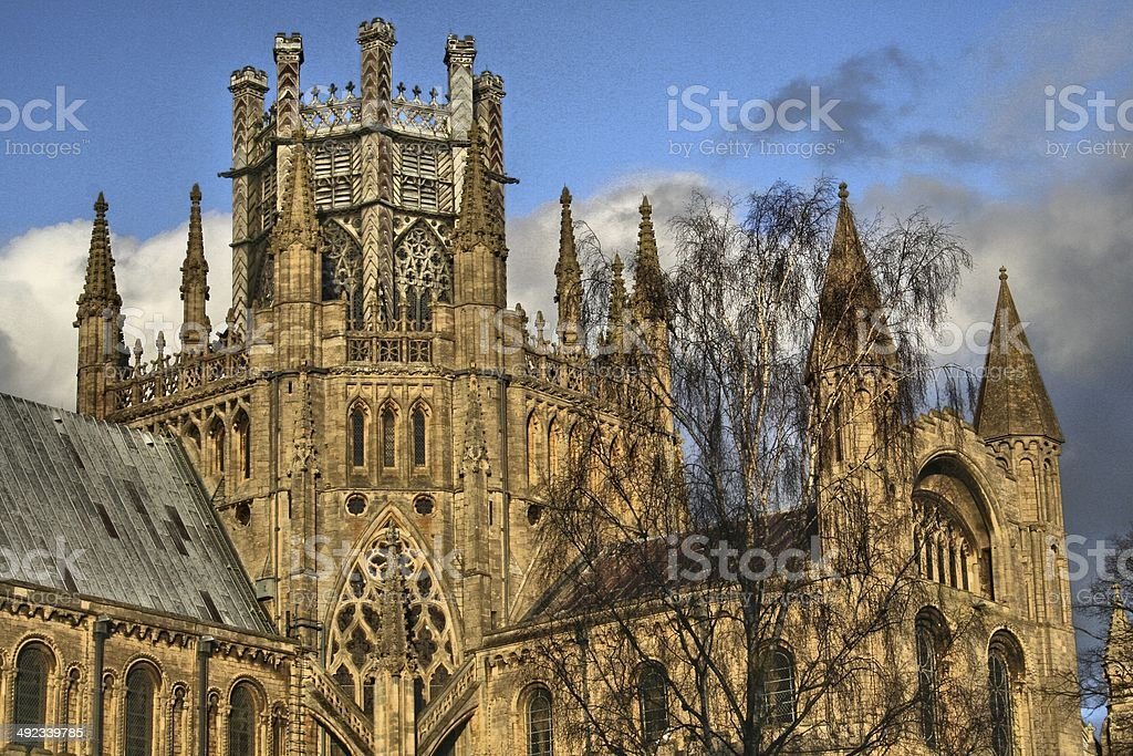 Ely Cathedral - South Side stock photo
