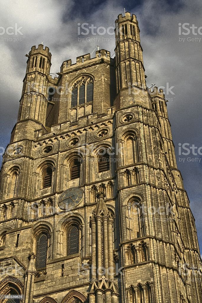 Ely Cathedral - Tower stock photo