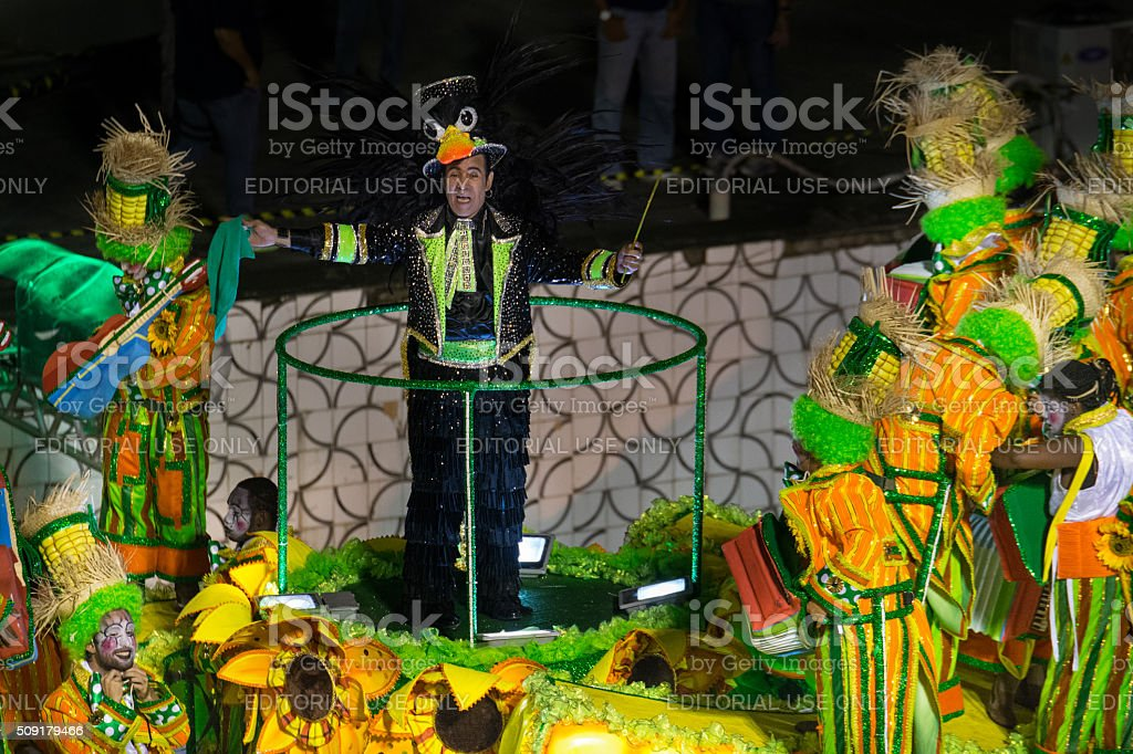 Elymar Santos on a carnival float royalty-free stock photo