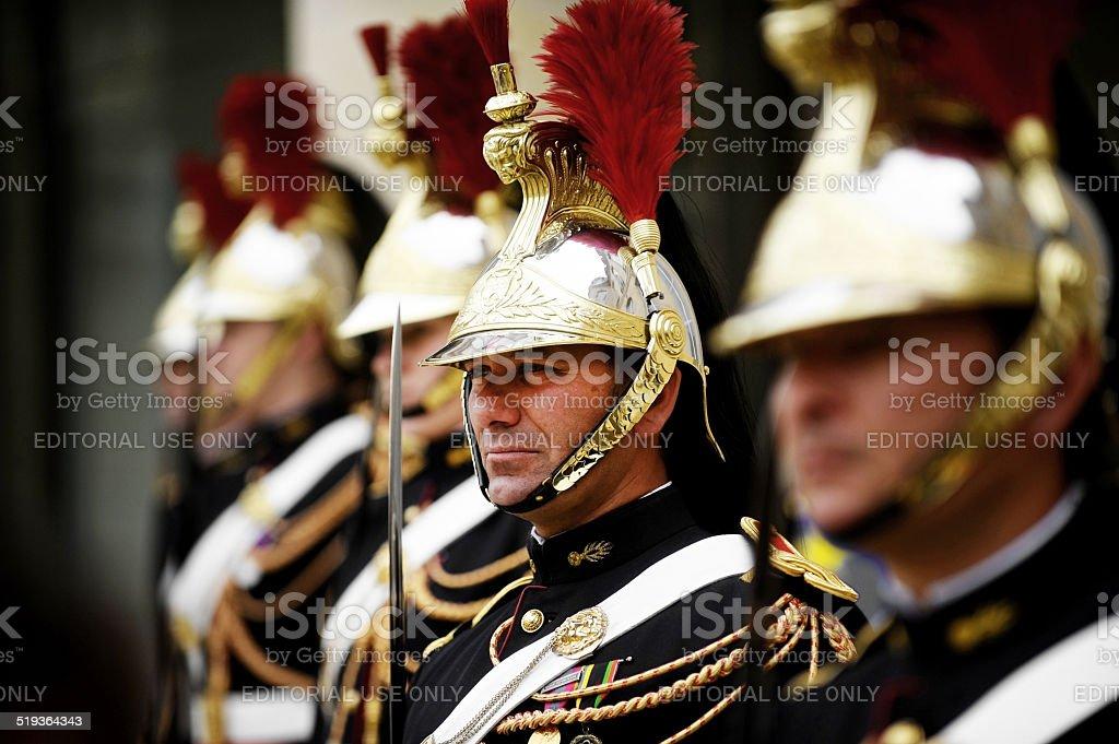 Elysee Palace Republican Guard stock photo