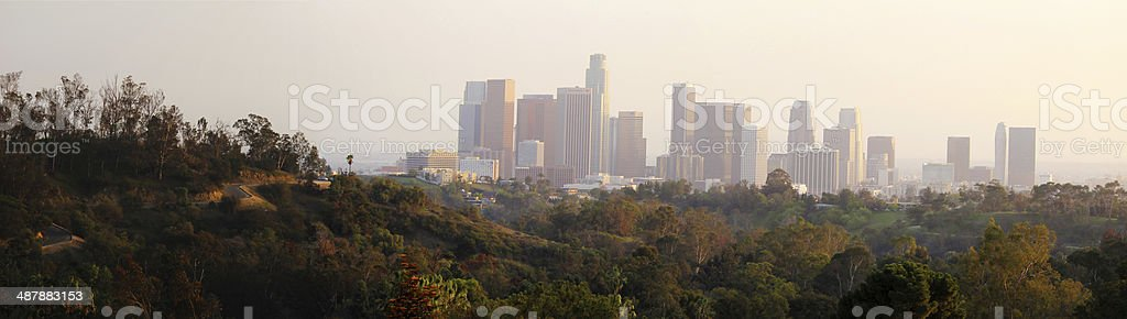 Elysian Park Panorama stock photo