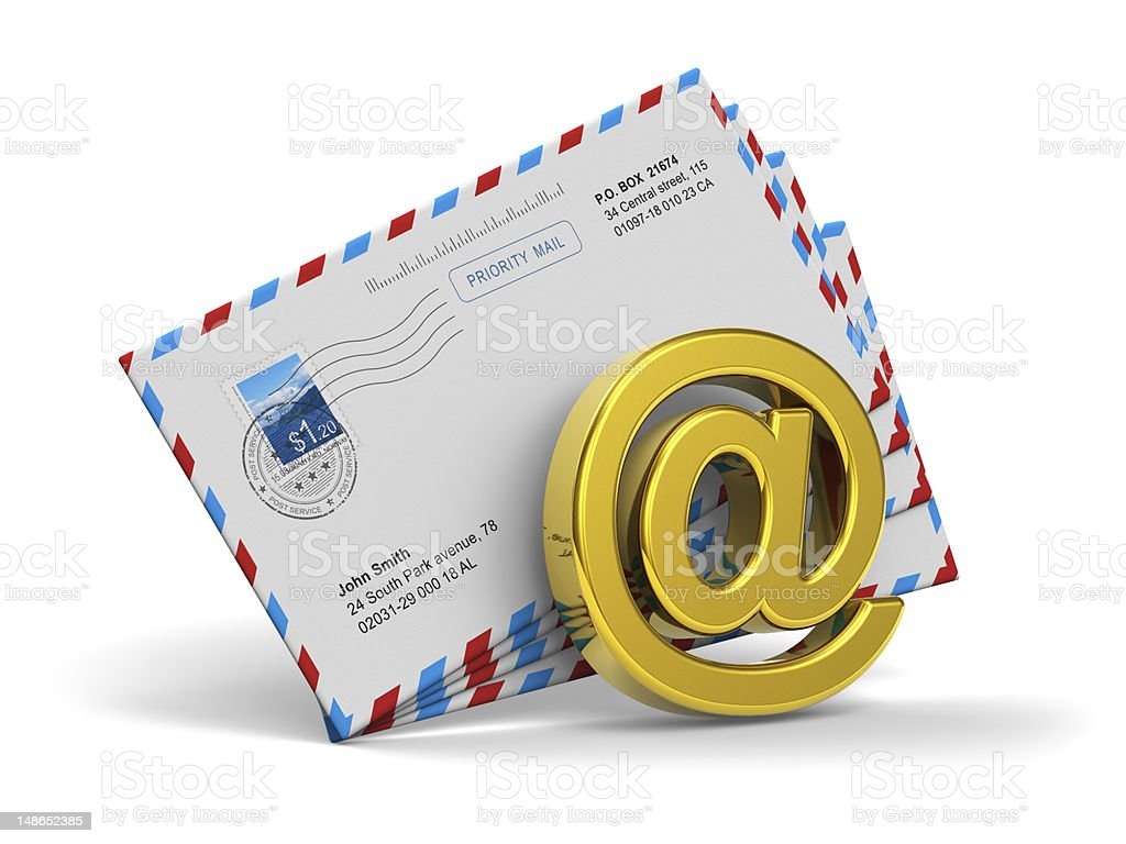 E-mail and internet messaging concept royalty-free stock photo