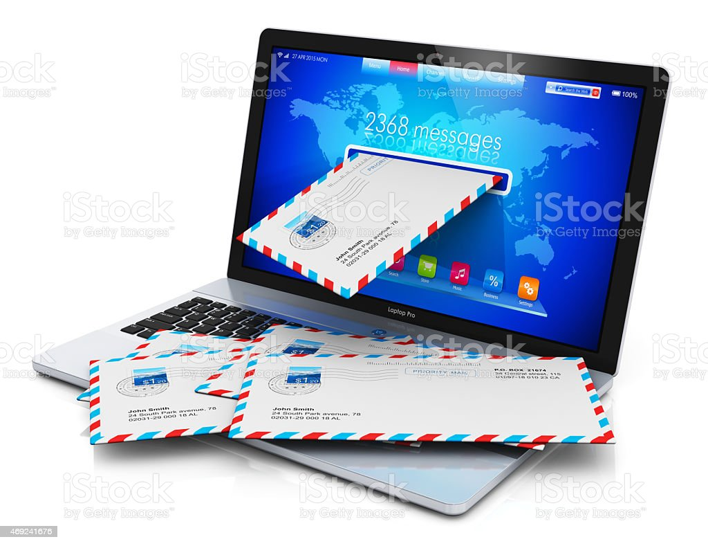 E-mail and spam concept stock photo