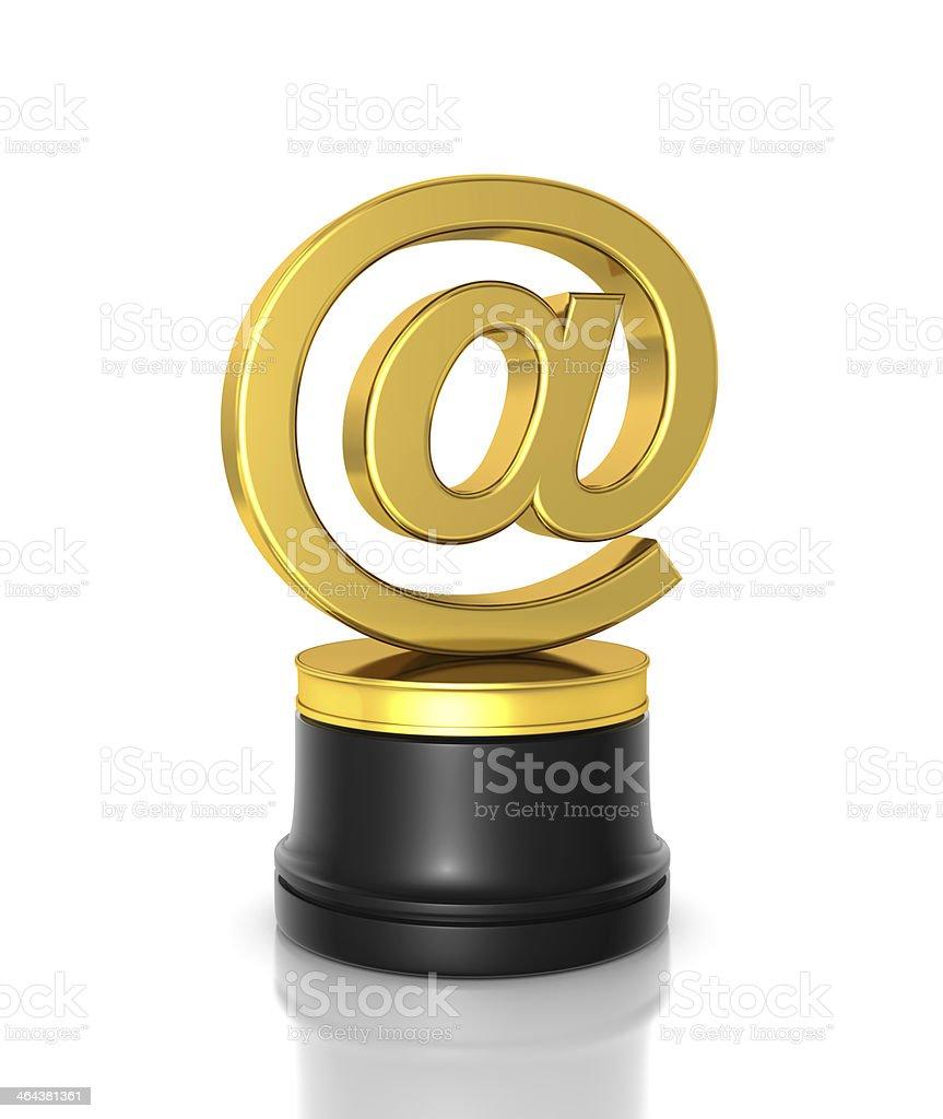 E-Mail Award royalty-free stock photo