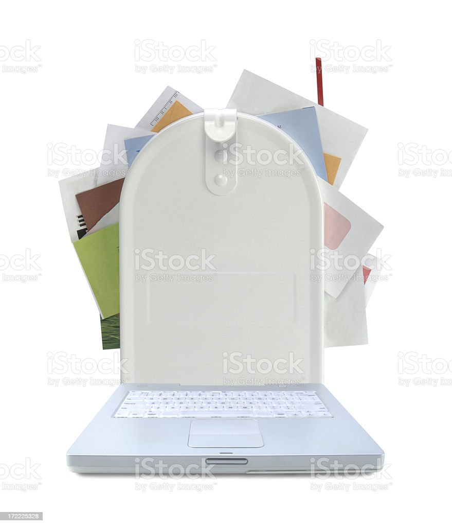 Email Box stock photo