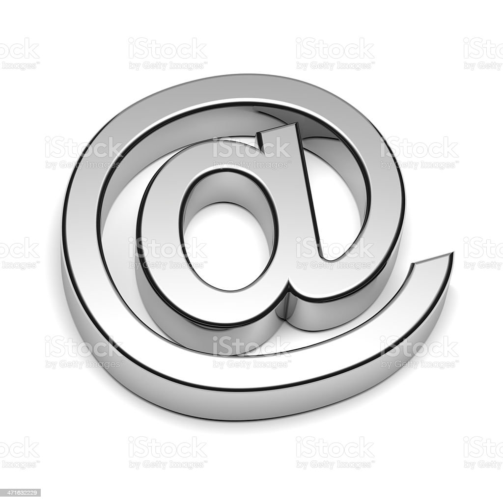 Email Chrome Sign stock photo