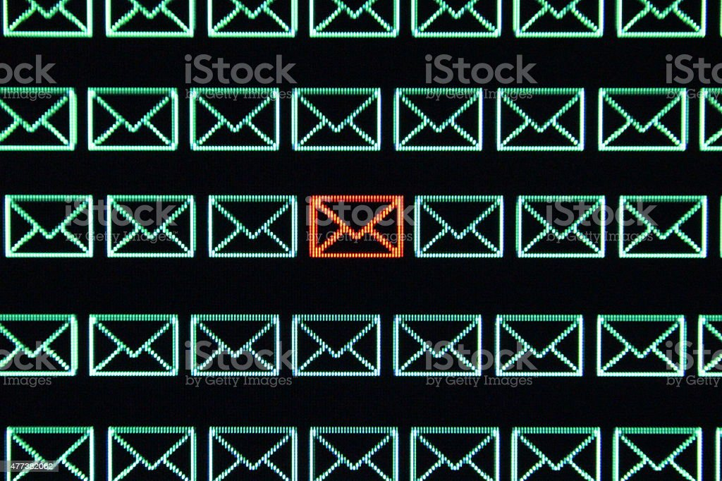 Email Communication Privacy stock photo