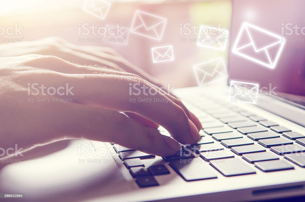 Email concept. stock photo