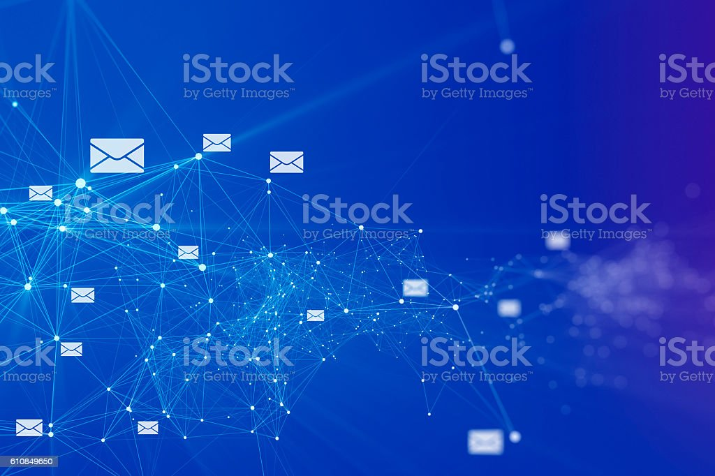 E-mail connection background stock photo