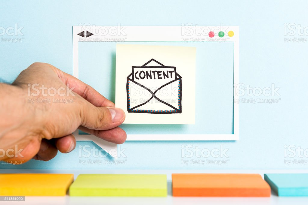 Email content marketing strategy illustration concept stock photo