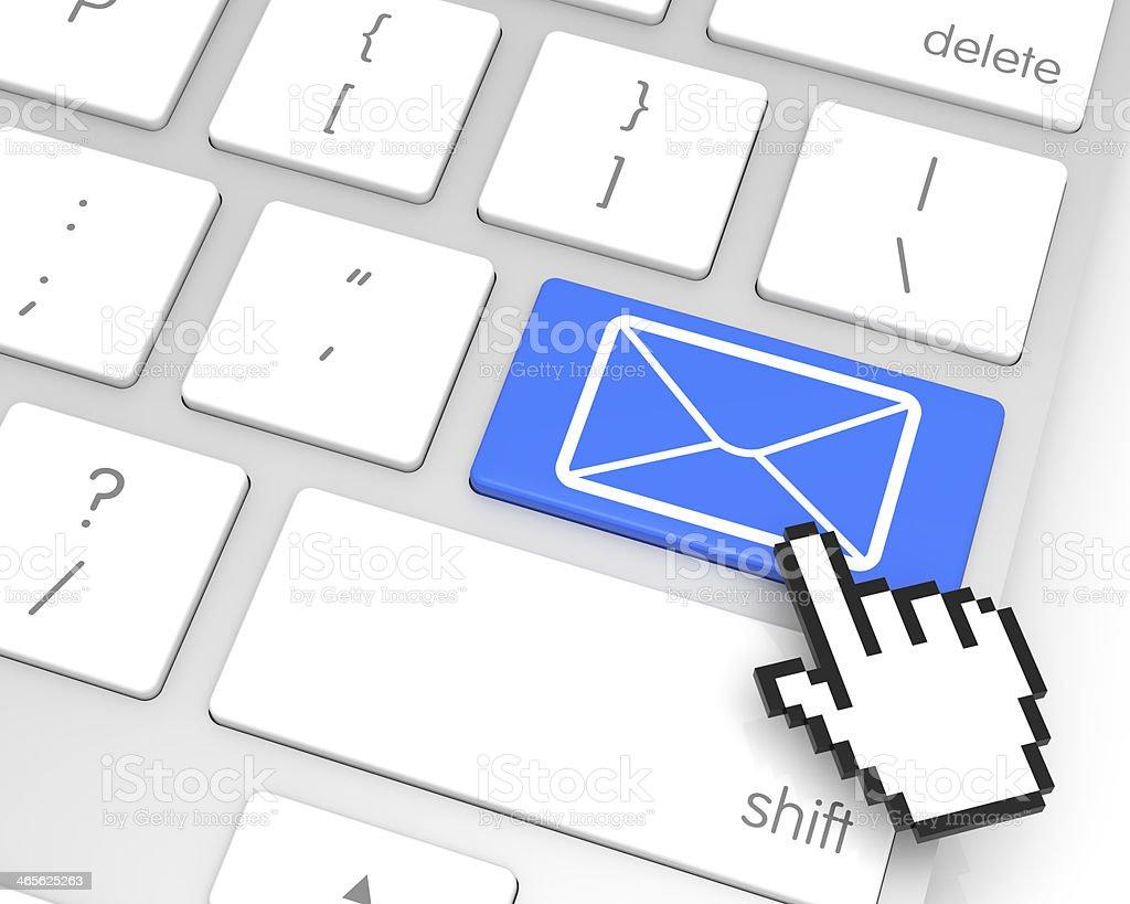 E-Mail Enter Key royalty-free stock photo