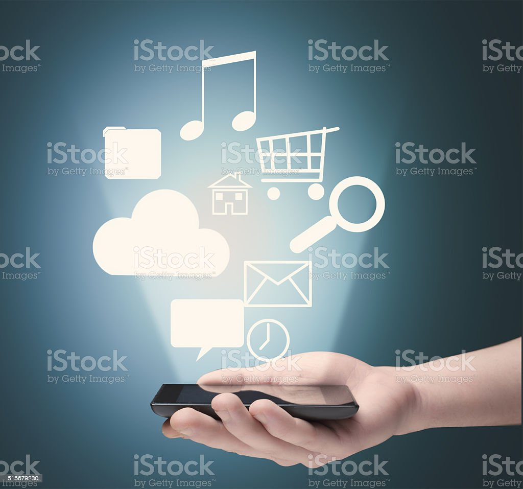 Email icon as concept stock photo