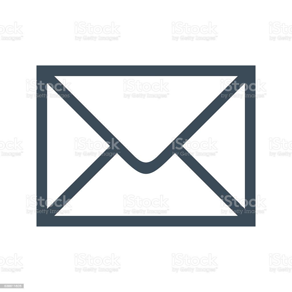 email icon isolated on white background stock photo