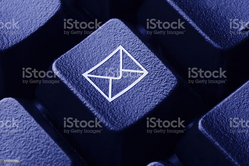 Email Icon on Computer Keyboard royalty-free stock photo