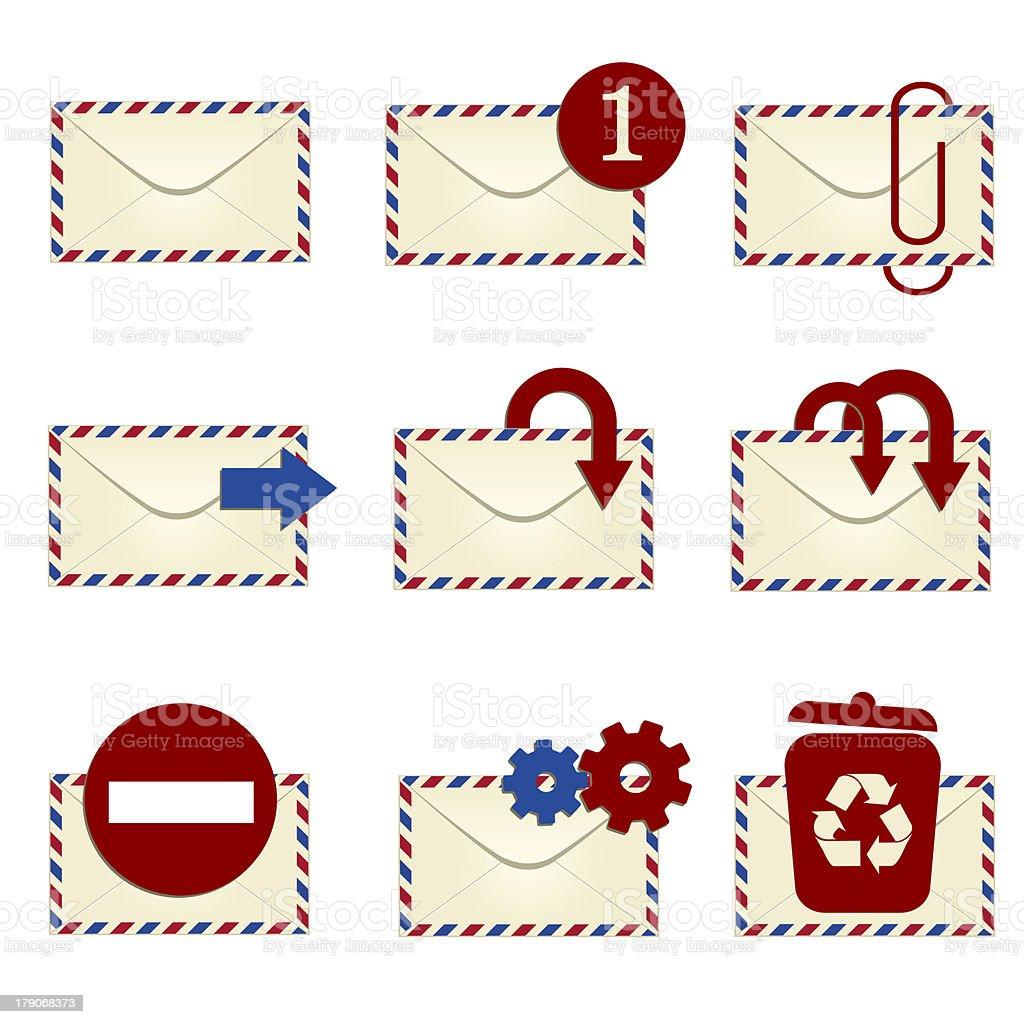 E-mail icon set 1 stock photo