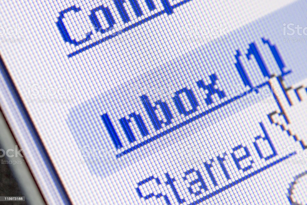 Email in Inbox stock photo