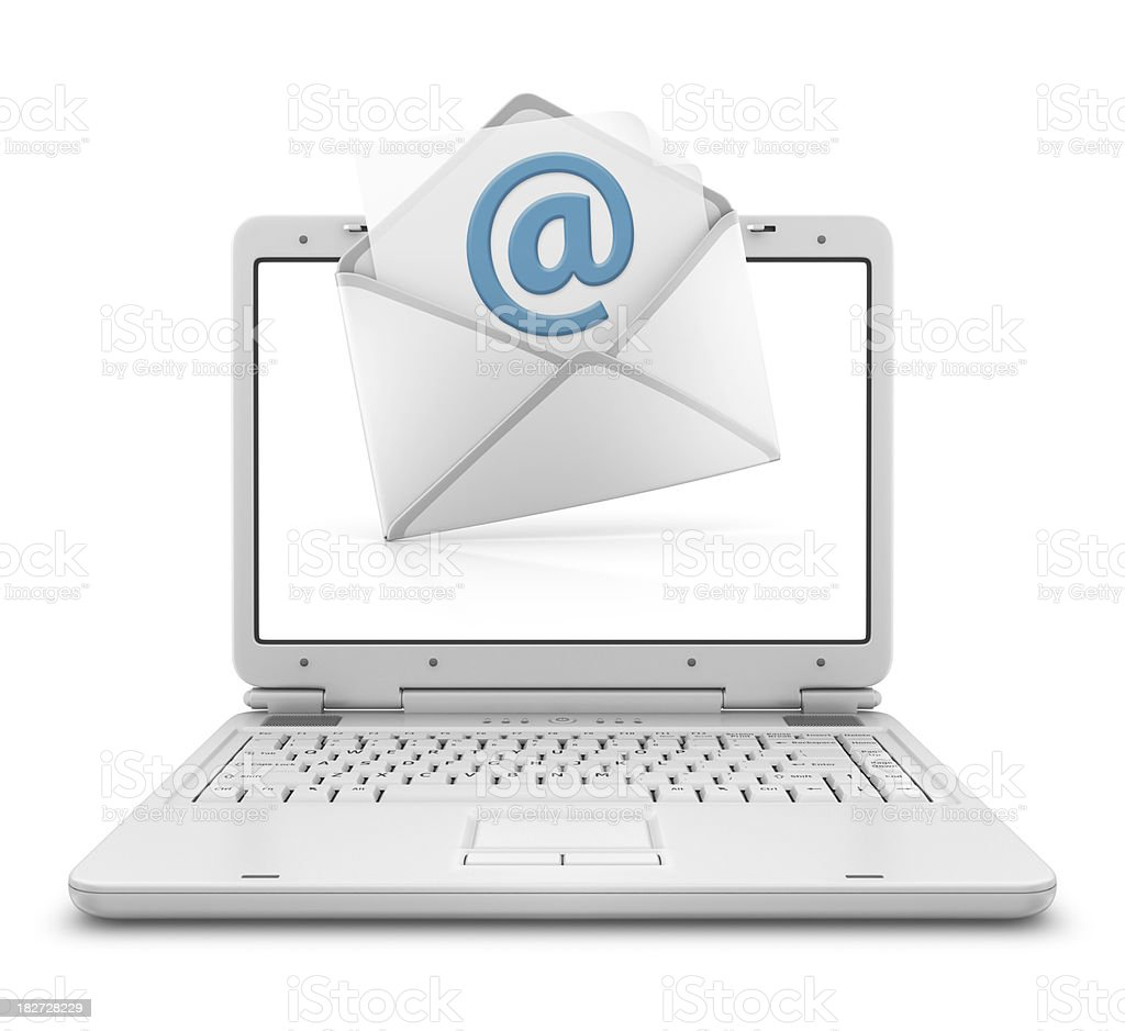 email in laptop royalty-free stock photo