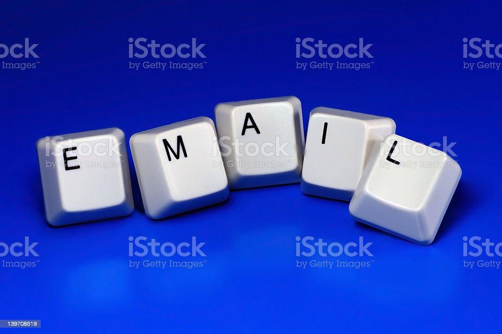 email - keyboard keys royalty-free stock photo