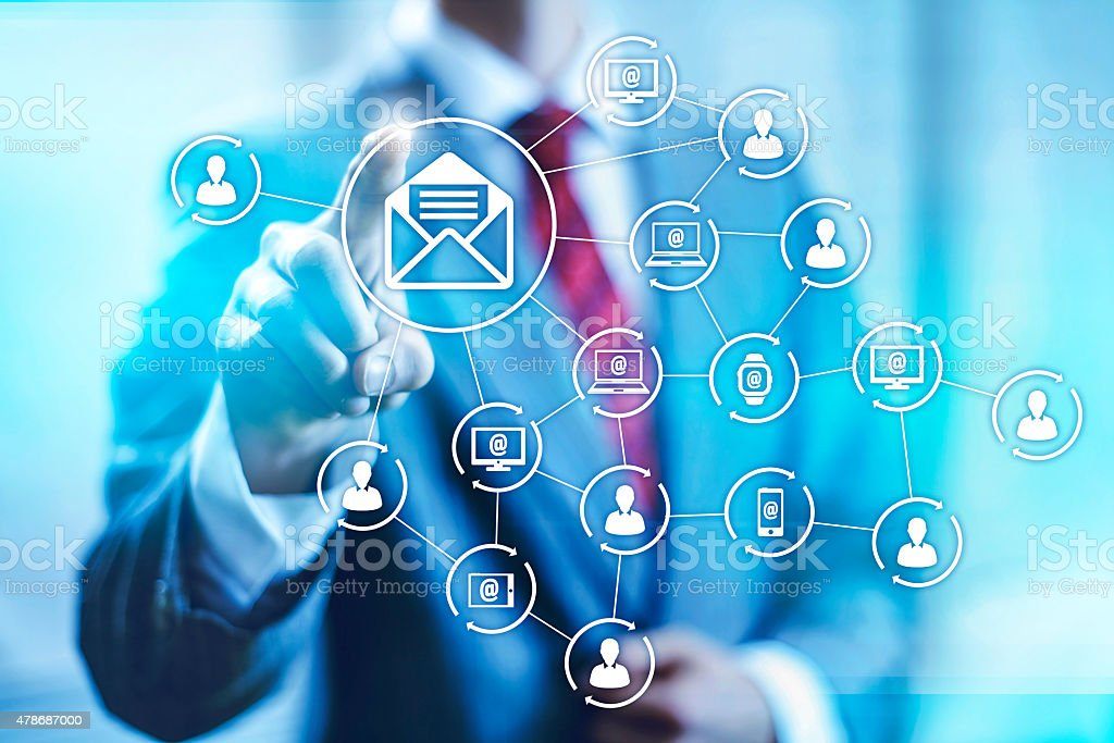 Email marketing illustration stock photo