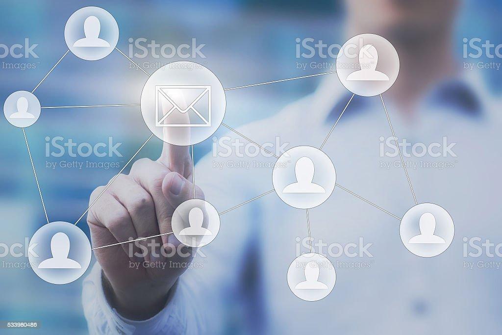 email marketing stock photo