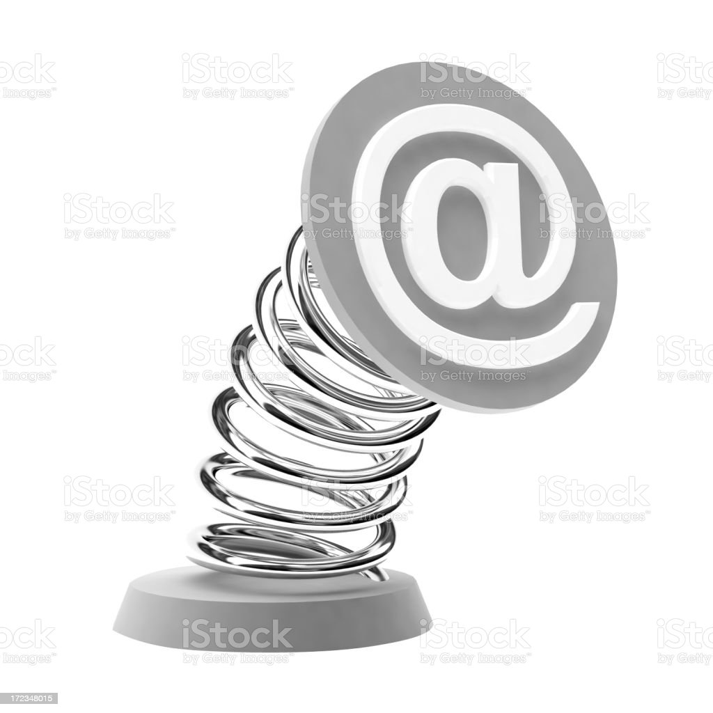 Email metal sign royalty-free stock photo