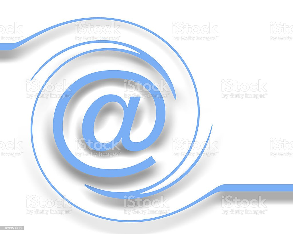E-mail on white stock photo