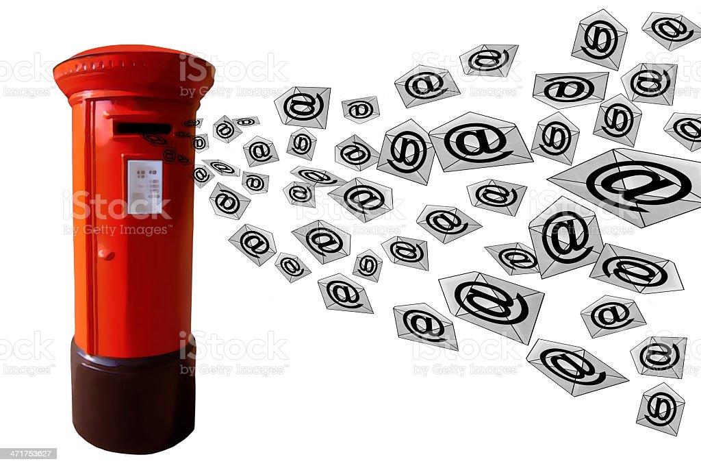 3D E-Mail Post Box royalty-free stock photo