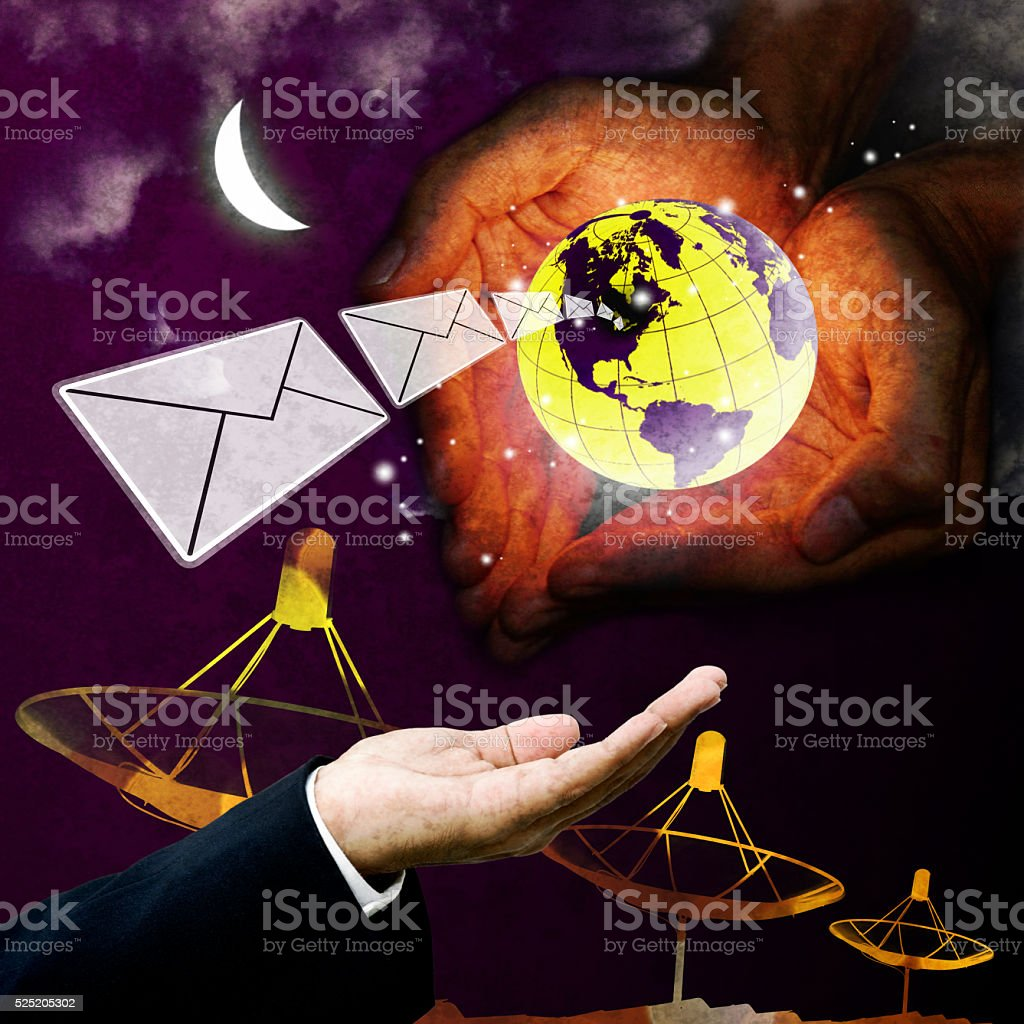 Email protection technology, Communication concept stock photo