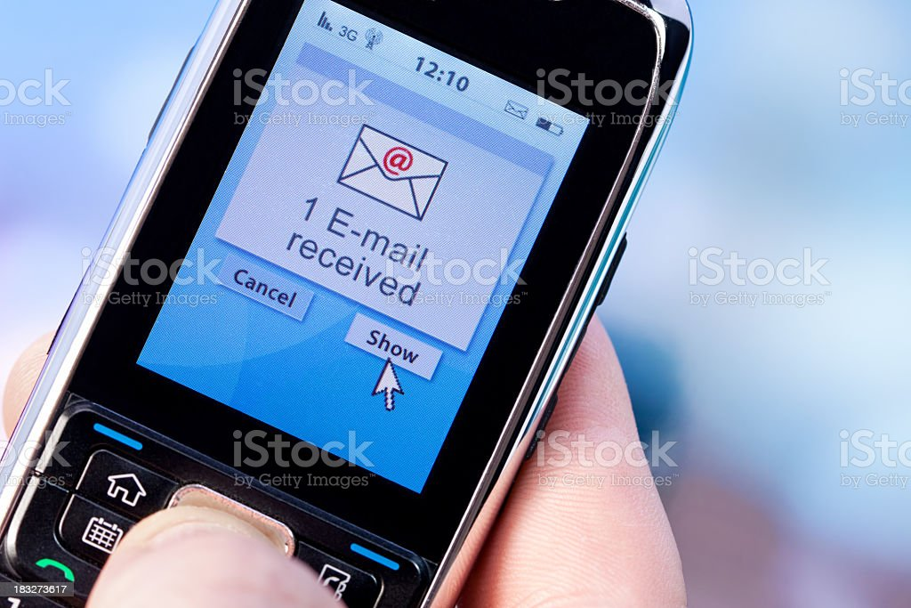 E-mail received royalty-free stock photo