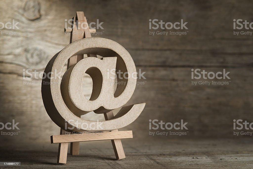 email sign, @, at symbol royalty-free stock photo