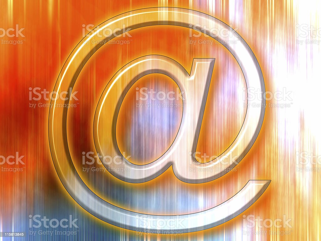 Email symbol and the blur royalty-free stock photo