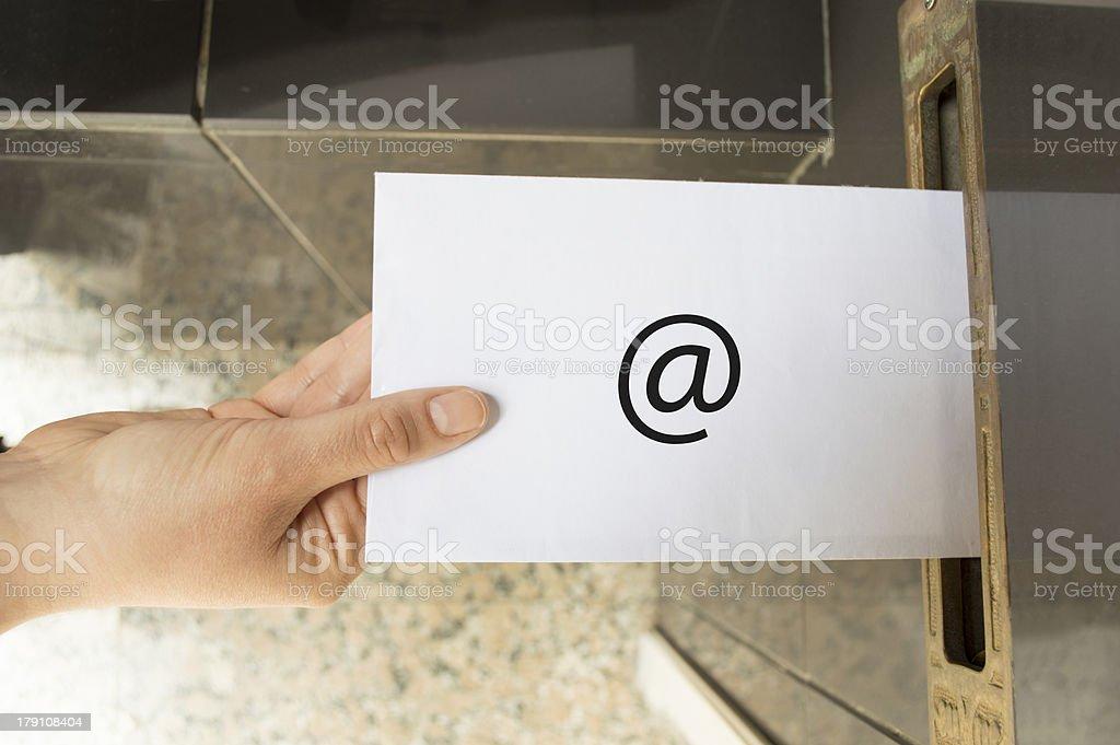 Email Symbol internet communication royalty-free stock photo