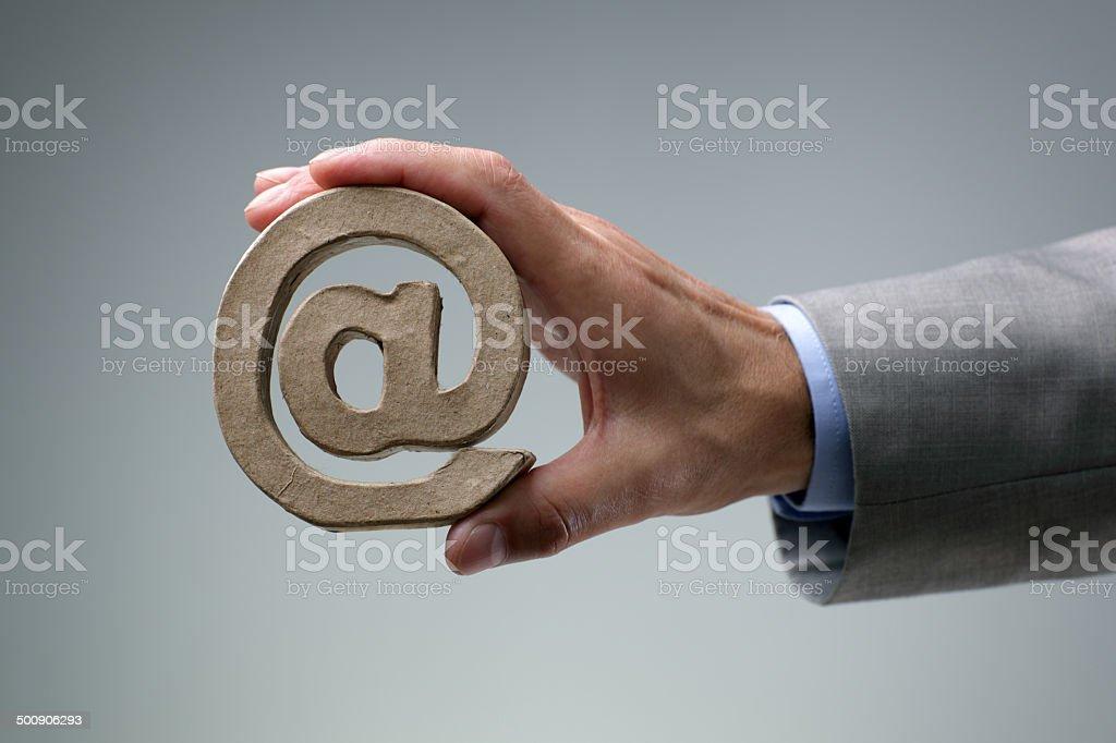 E-mail @ symbol stock photo