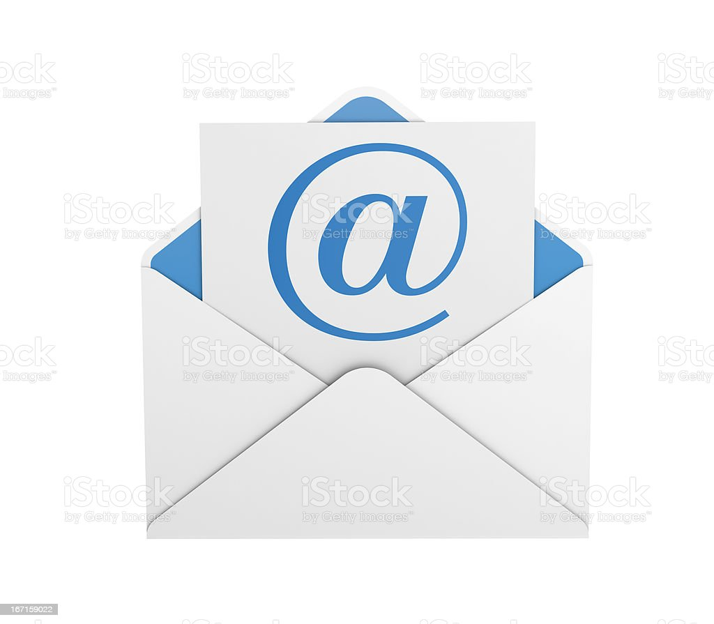 e-mail symbol with envelope stock photo