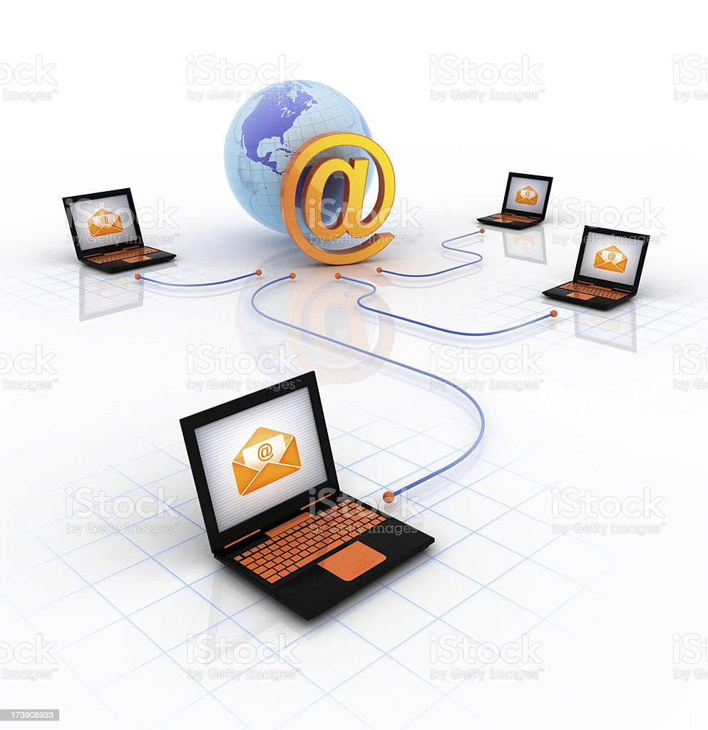 Email System stock photo